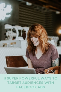women at computer facebook ad targeting